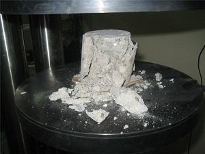 Испытание бетона - прочность бетона на сжатие 1
