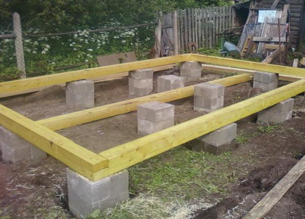 Собираем легкий фундамент из фундаментных блоков 20х20х40 2