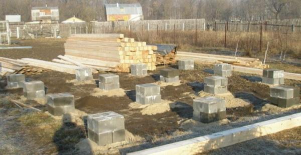 Собираем легкий фундамент из фундаментных блоков 20х20х40 5
