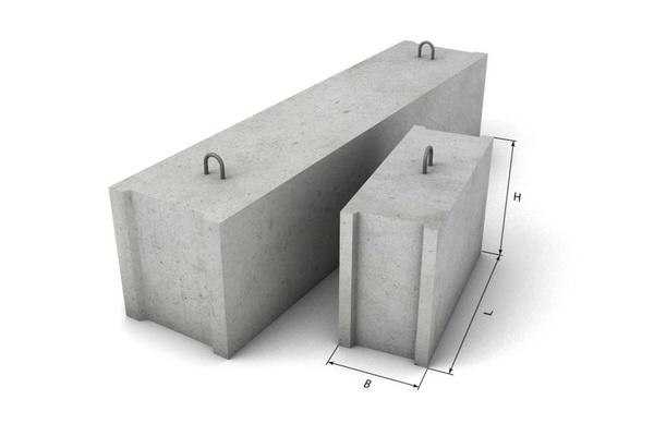 Вес блоков ФБС - сколько весят фундаментные блоки 2