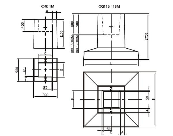Фундаменты стаканного типа под металлические колонны 3