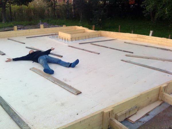 Расчет фундаментной плиты, армирование и устройство плитного фундамента дома 2