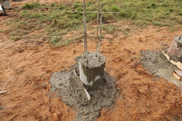 Делаем буронабивной фундамент с ростверком для дома 4