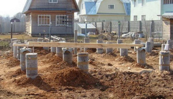 Как сделать столбчатый фундамент своими руками для каркасного дома 2