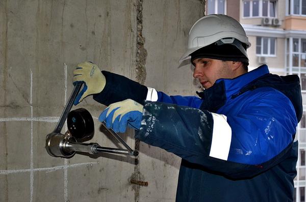 Испытание бетона - прочность бетона на сжатие 4