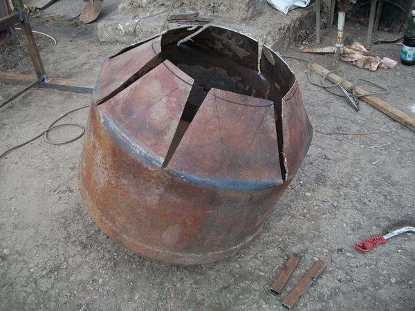 Самодельная бетономешалка из бочки своими руками 2