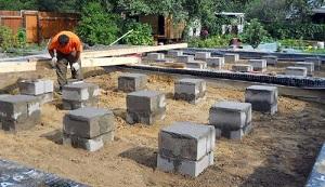 Собираем легкий фундамент из фундаментных блоков 20х20х40 1