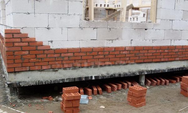 Устройство фундамента под кирпичный дом на винтовых сваях 4
