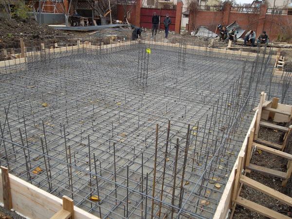 Расчет фундаментной плиты, армирование и устройство плитного фундамента дома 5